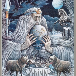 Odin Poster Haukur Halldorsson Art